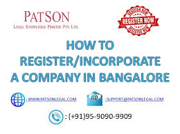 How To Register A Company How To Register A Private Limited Company In Bangalore India
