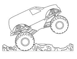 Printable Monster Truck 0 Coloring Pages Blaze Colouring Billtab