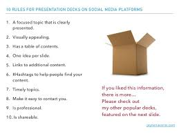 tips for converting your presentation for online publication 16 jaynenavarre com 10 rules for presentation