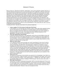 Statement Of Purpose Graduate School Example Template For Statement Of Purpose Theredteadetox Co