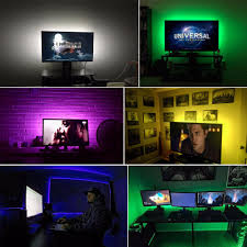rgb usb led strip backlight lighting for hdtv desktop flat screen lcd tv pc bias lighting 5v 1m 2m 3m 4m 5m 5050 smd decor lamp in led strips from lights