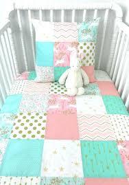baby girl blanket crib bedding blush pink c mint gold white unicorns unicorn nursery decor arrows