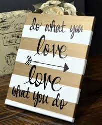 office canvas art. Gold Striped Canvas Wall Art Painting Custom Quote Love What You Do Office Studio Hanging Dorm Decor Sign P