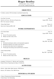 Resume Format For Engineering Students Download Mechanical