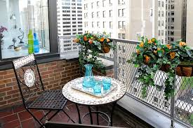 Small And Stylish Tiny Balconies That Utilize The Power Of Color Custom Apartment Balcony Decorating Ideas Painting