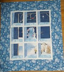 Attic Window Snowman Scene Quilt | FaveQuilts.com & Attic Window Snowman Scene Quilt Adamdwight.com