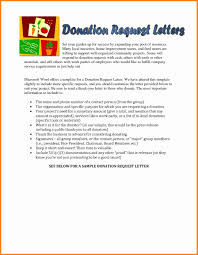 Donation Letter Sample Sample Letter Asking For Donations Photo