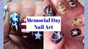 Memorial Day Nails - Patriotic Nail Art - YouTube
