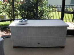 white outdoor storage box outdoor wicker storage trunk outdoor wicker storage chest random 2 patio furniture