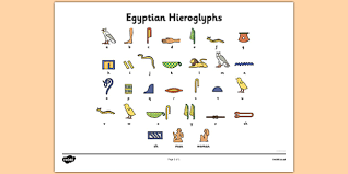 Hieroglyphics Chart Free Ancient Egyptian Hieroglyphs Printable Symbol Sheet