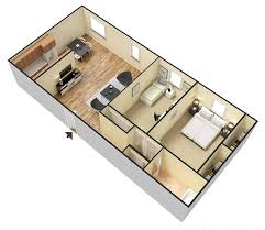 3d 2 bedroom 1 bathroom 900 sq ft