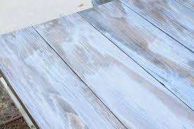 a weathered wood gray finish