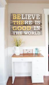 message on upcycled pallet wood