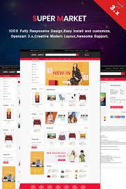 Online Menu Design Software Super Market Opencart Template 68905 Web Design Software