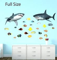 shark wall decals ocean wall decals shark wall decal ocean decals tropical by ocean wave wall shark wall decals