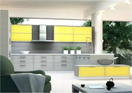 ... Yellow Grey Kitchen Decor Gray Cabinets And Images ...