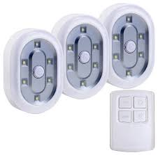1.5W Daylight Wireless Remote Control LEDs, Set of 3 ...