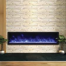 65 wide and extra slim indoor or outdoor built in only electric fireplace with black steel surround