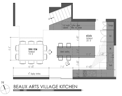 simple kitchen drawing. BUILD-LLC-Beaux-Arts-Village-Kitchen-plan Simple Kitchen Drawing