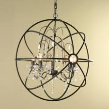 metal orb chandelier crystal and metal orb chandelier chandeliers by shades large metal orb chandelier world