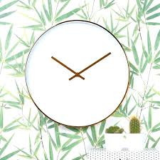 copper wall clock white and copper wall clock clocks large round copper wall clock