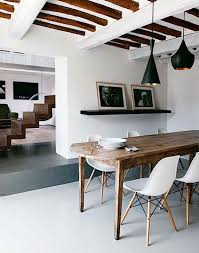 modern kitchen dining sets. chairs rustic effect dining table wood modern beams kitchen sets