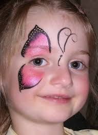 left erfly face painting