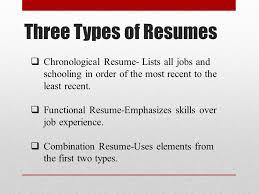 resume order of jobs basic resume writing ppt video online download