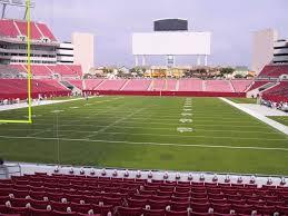 Raymond James Stadium View From Lower Level 124 Vivid Seats
