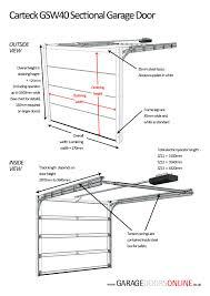 full image for measuringwooden garage door sizes uk double dimensions nz