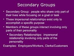 Secondary Group Primary And Secondary Groups