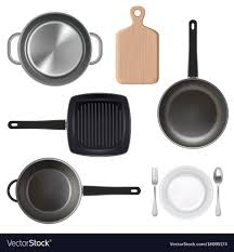 kitchen utensils. Modren Utensils Kitchen Utensils Top View Vector Image Intended Utensils T