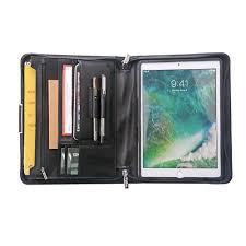 Designer Padfolio Designer Leather Organizer Padfolio With Zipper And Wrist Strap For 9 7 Inch Ipad 10 5 Inch Ipad Pro