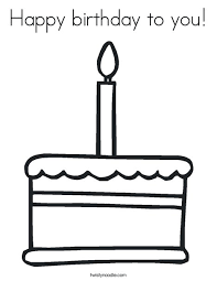 Small Picture Happy birthday to you Coloring Page Twisty Noodle