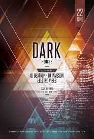 Dark Flyer Dark House Flyer Template On Behance