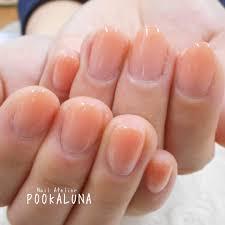 Pookaluna さんのネイルデザイン 春夏人気オレンジベージュのウ