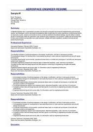 Aerospace Engineer Resume Great Sample Resume