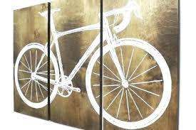 french bicycle canvas wall art