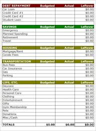 Household Budget Spreadsheet Templates Household Budget Template Printable Household Budget