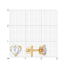 Золотые серьги-<b>пусеты</b> (гвоздики) SOKOLOV 81020254_s с ...