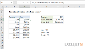 Vat Calculation Formula In Excel Download Excel Formula Tax Rate Calculation With Fixed Base Exceljet