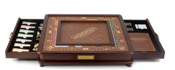 Wooden Monopoly Board Game Themed Monopoly Games Time for the Holidays 13