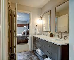 grand rapids kohler vanity mirrors bathroom transitional with beige walls soft close drawers dark grey flat