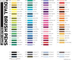 Tombow Dual Brush Pen Color Chart Brush Pen Art Tombow