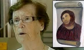 pensioner whose diy restoration ruined a 19th century painting demands royalties from church after it becomes visitor draw daily mail
