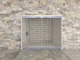 option 2 sti cutback frame in satin nickel with stainless steel mesh curtains