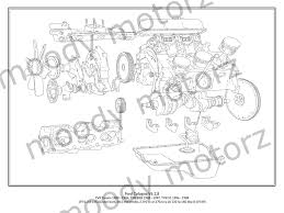 tvr ford cologne v6 engine diagram schematic poster print a2 a3 size