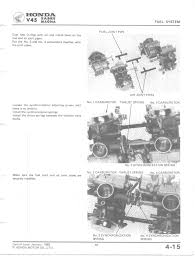 vf750c shop manual carburetor assembly · carburetor assembly cont