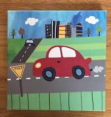 oopsy daisy too canvas wall art kids decor picture transportation red car 10 x10 on oopsy daisy transportation wall art with oopsy daisy too canvas wall art kids decor picture transportation
