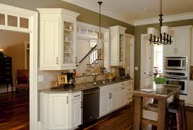 white painted line glaze kitchen cabinet with wood made and grey marble top also double wall